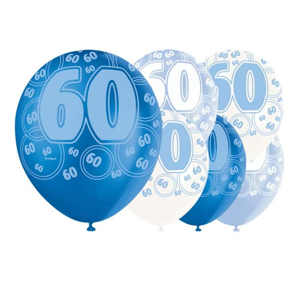 Blue-Glitz-Age-60-Happy-Birthday-12-Inch-Latex-Balloons-Pack-of-6-Mixed-Colours-product-image