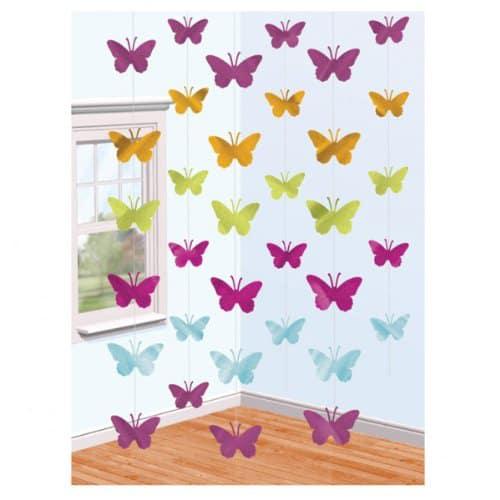 Butterfly Foil Strings - 7 Ft / 213cm - Pack of 6