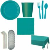 Caribbean Teal 8 Person Deluxe Party Pack