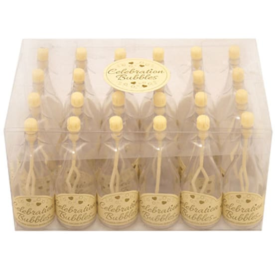Champagne Bottle Bubbles Cream - Pack of 24