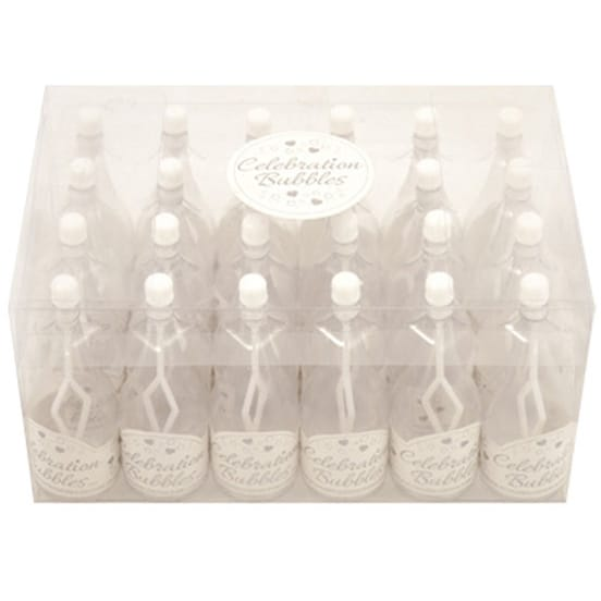 Champagne Bottle Bubbles White - Pack of 24