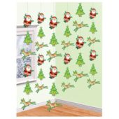 Christmas and Santa String Decoration 7 Feet – Pack of 6
