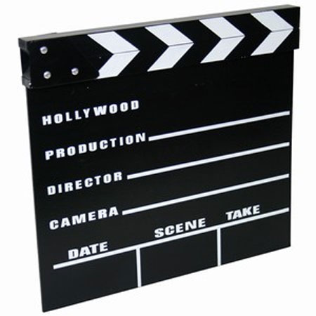 Small Clapperboard - 7 x 7.8 Inches / 18 x 20cm