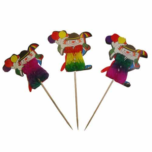 Clown-Honeycomb-Party-Picks-Pack-of-6-image