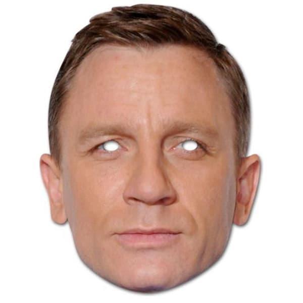 Daniel Craig Cardboard Face Mask