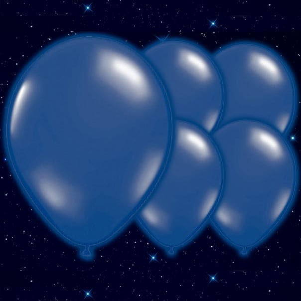 Dark Blue Illoom Balloons - 9 Inches / 23cm - Pack of 5 Product Image