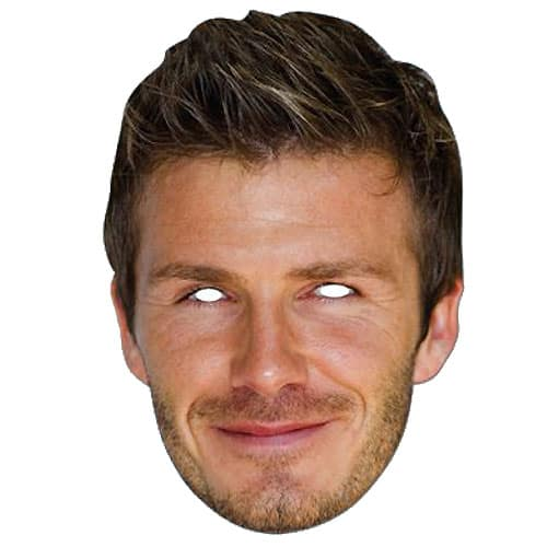 David Beckham Cardboard Face Mask