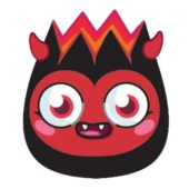 Moshi Monsters Diavlo Cardboard Face Mask