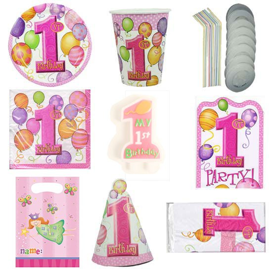 First-Birthday-Girl-8-Person-Deluxe-Party-Pack