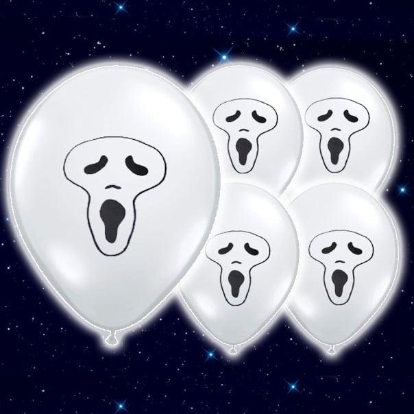 White Ghost Balloons Flashing Ghost White Illoom