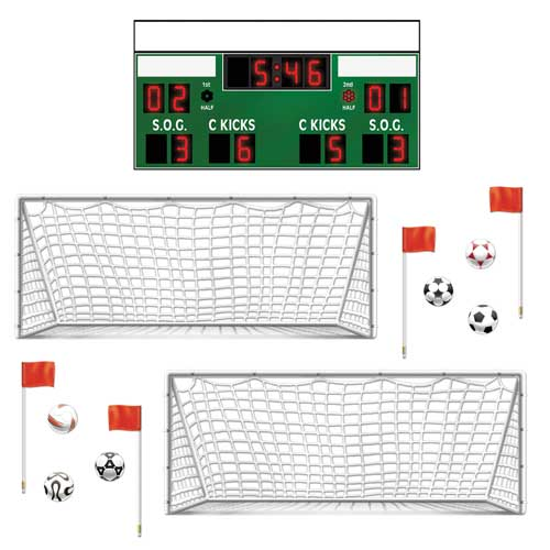 Football Theme Scene Setter Add Ons - Pack of 13 Add Ons