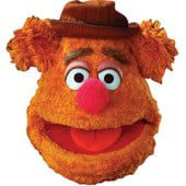 The Muppets Fozzy Bear Cardboard Face Mask