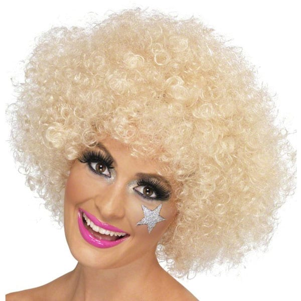 Funky Blonde Unisex Afro Wig