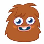 Moshi Monsters Furi Cardboard Face Mask