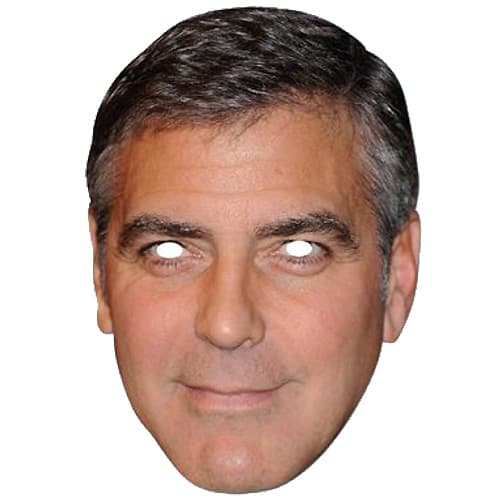 George Clooney Cardboard Face Mask Product Image