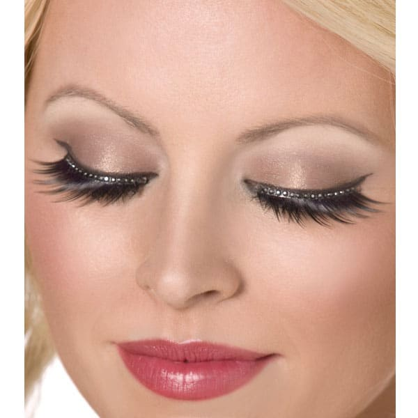 3017d57a103 Glamour Eyelashes with Black Crystals | Partyrama.co.uk