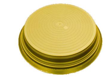 Gold Round Wedding Cake Stand