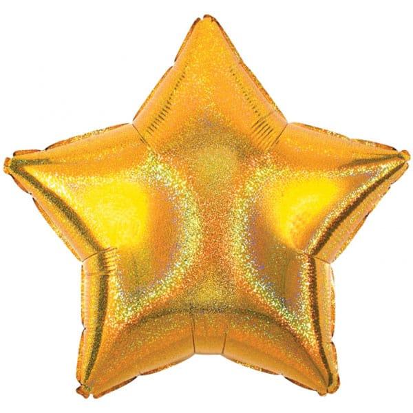Gold Star Diamond Dazzler Foil Helium Balloon 48cm / 19Inch