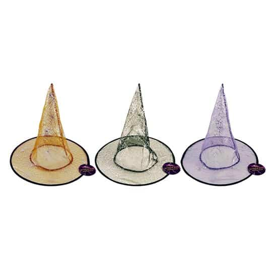 Halloween Witches Spider Web Hat