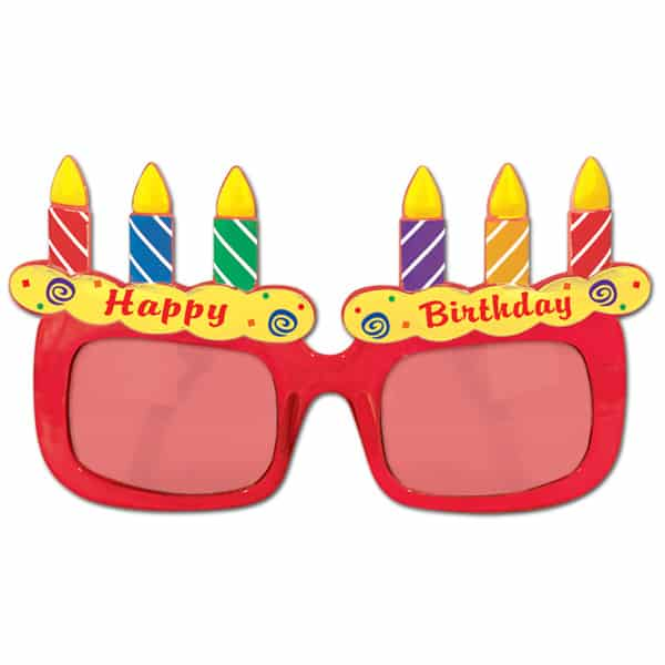 Happy Birthday Fancy Dress Glasses Product Image