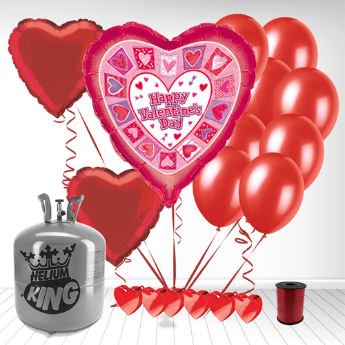 Happy Valentines Day Heart Shape Balloons Small Package