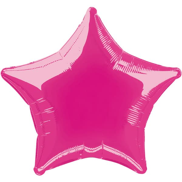 Hot Pink Star Foil Helium Balloon 51cm / 20Inch