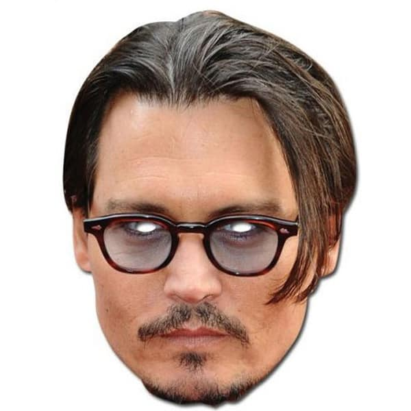Johnny Depp Cardboard Face Mask Product Image