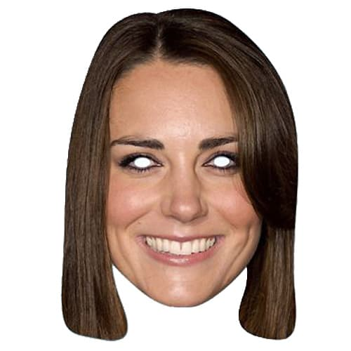 Kate Middleton Cardboard Face Mask Product Image