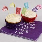 Keep Calm Theme Paper Cupcake Cases – Pack of 100