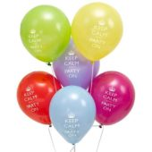 Keep Calm Theme Latex Balloons – 11 Inches / 28cm – Pack of 8