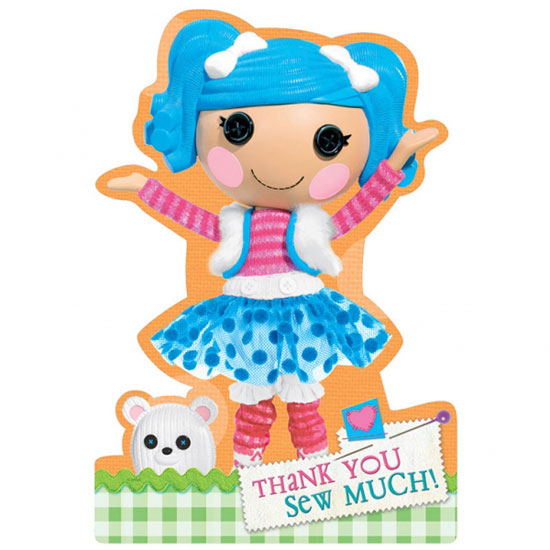 Lalaloopsy Thank You Cards with Envelopes - Pack of 8