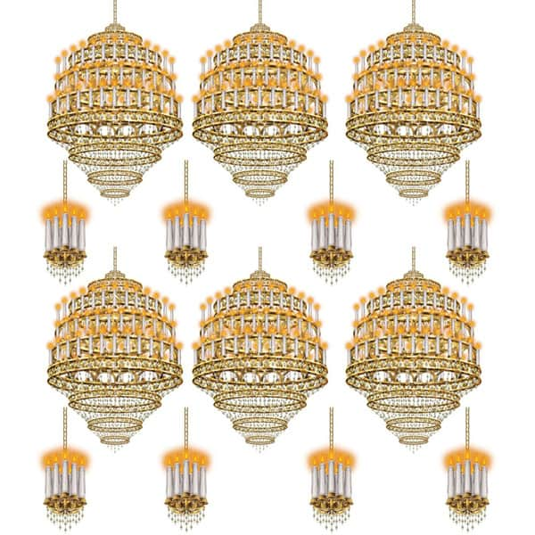 Lighting Props Scene Setter Add-Ons - Pack of 14 Chandeliers Product Image