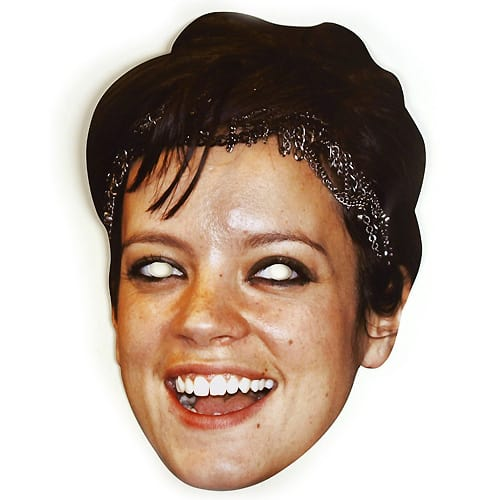Lily Allen Cardboard Face Mask Product Image