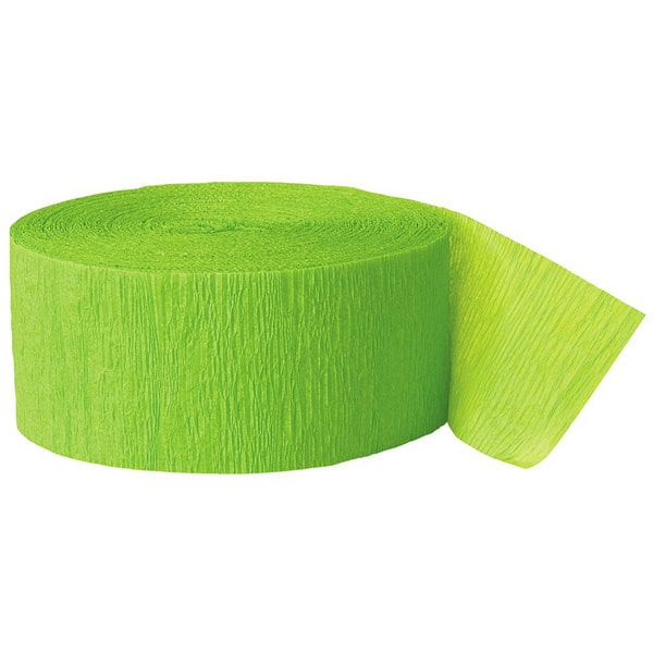 Lime Green Crepe Streamer - 81 Ft / 24.6m Product Image
