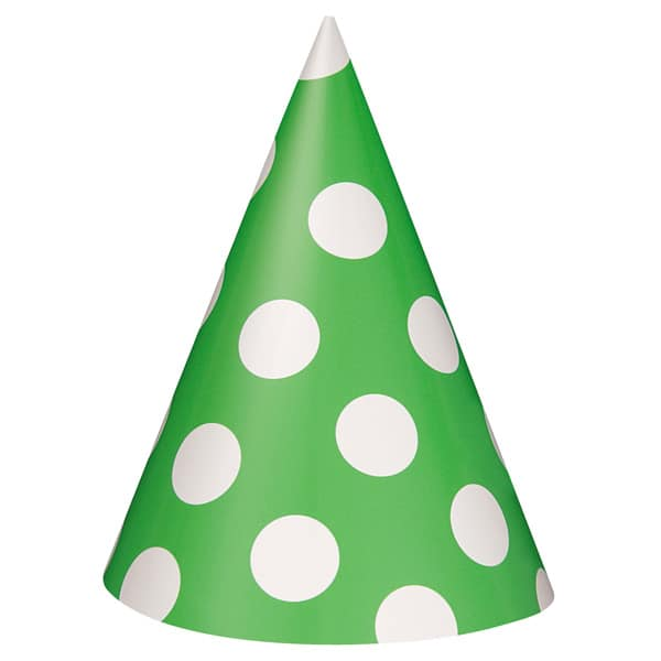 Lime-Green-Decorative-Dots-Party-Hats-product-image