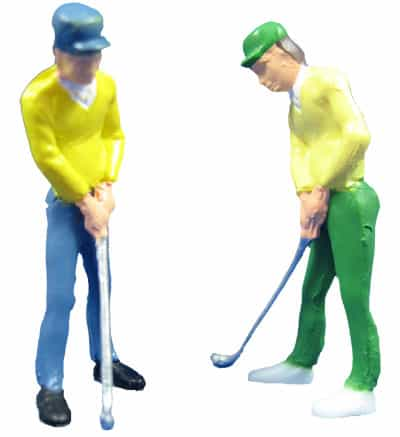 Male Golfer Figurine Cake Topper