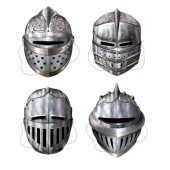Medieval Knight Cardboard Masks 12 Inch – Pack of 4