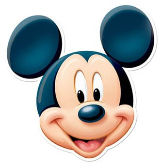 Disney Mickey Mouse Cardboard Face Mask Product Image