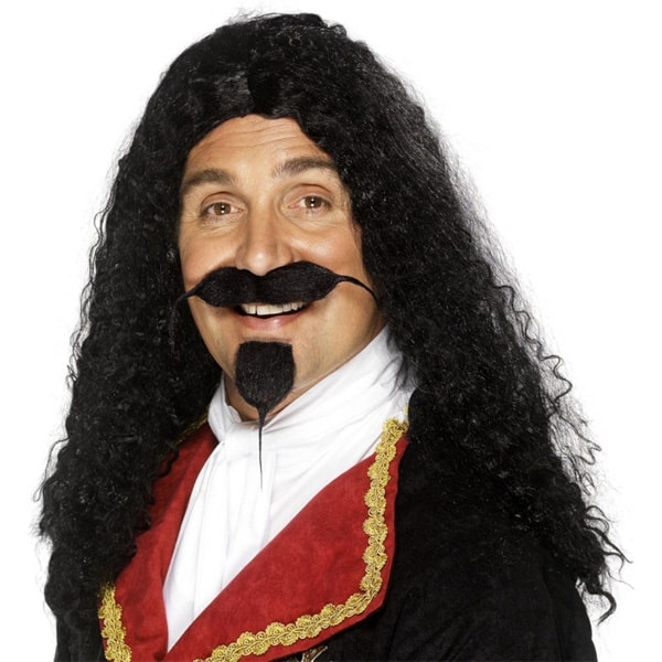 Musketeer Curly Mens Long Wig