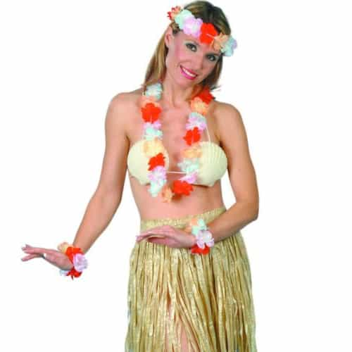 Natural Colour Hula Skirt - 22 Inches / 56cm