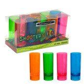Neon Plastic Shot Glasses – 57ml – Pack of 10