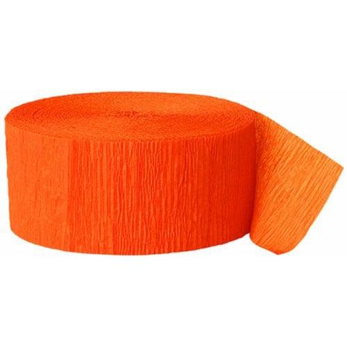 Orange Crepe Streamer - 81 Ft / 24.6m