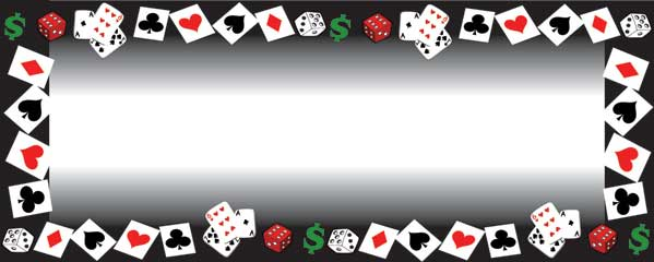 Cards Dice and Dollars Large Personalised Banner - 10ft x 4ft