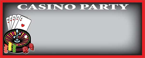 Casino Party Roulette Wheel Black Small Personalised Banner - 4ft x 2ft