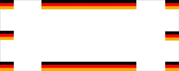 German Flags Right and Left With Flag Colours Top and Bottom Medium Personalised Banner - 6ft x 2.25ft