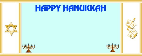 Happy Hanukkah Candles and Jewish Sign Small Personalised Banner - 4ft x 2ft