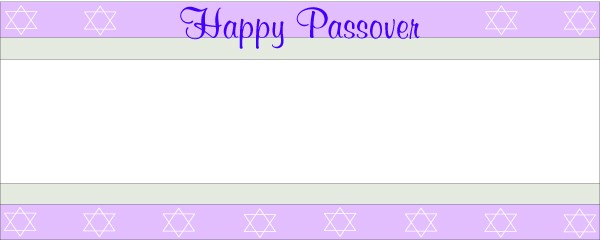 Happy Passover Lilac Jewish Sign Small Personalised Banner - 4ft x 2ft