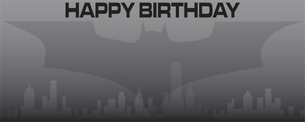 Batman The Dark Knight Happy Birthday Design Small Personalised Banner - 4ft x 2ft