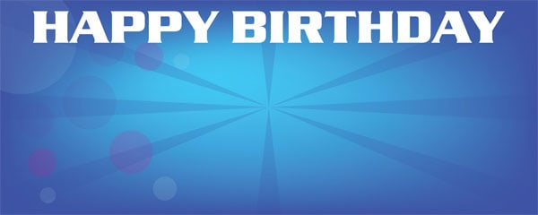 Hannah Montana Blue Birthday Design Small Personalised Banner - 4ft x 2ft