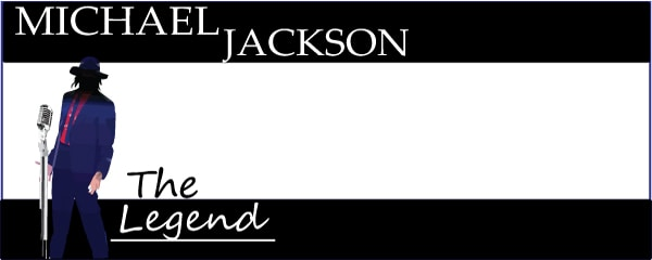 Michael Jackson The Legend Design Small Personalised Banner- 4ft x 2ft